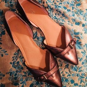 Dr. Scholl's rose gold leather flats